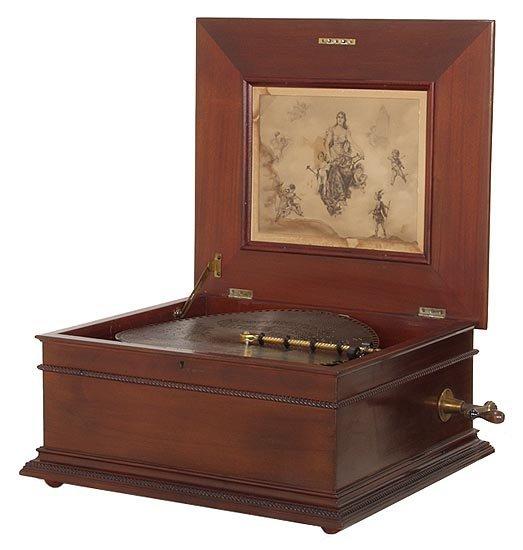 3457: Early 1900s Regina Music Box