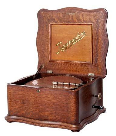 3459: RARE REGINAPHONE Oak Player