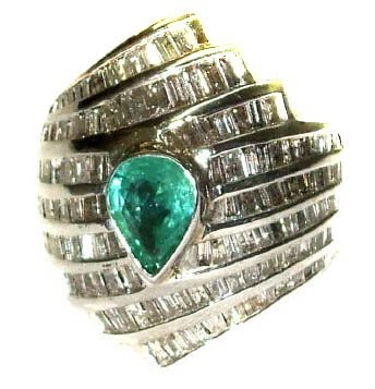 3462: 2.45 ct. Emerald Ring with Diamonds