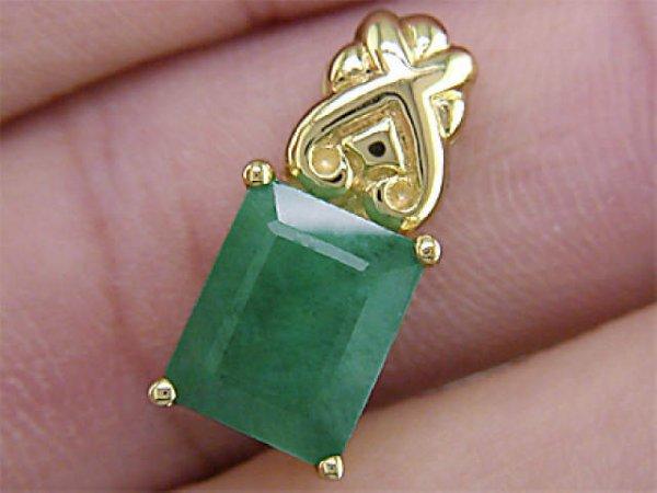 3466: 4.75 ct. Single Stone Emerald Pendant