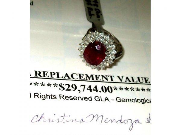 3469: Fabulous $ 29,000 Ruby and Diamond Ring
