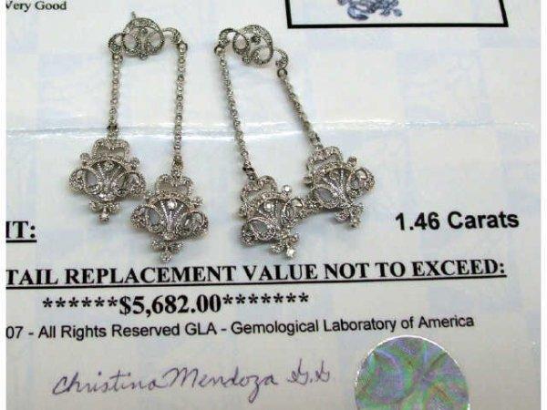 3470: 1.46 ct. Diamond Drop Earrings