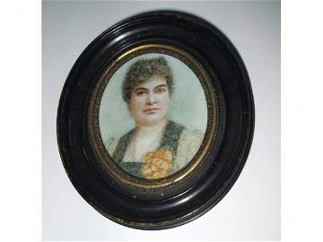 724A: Fine Hand Painted 19th Century Portrait by Olivia