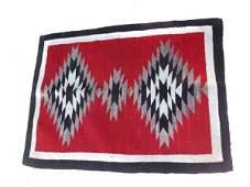 727A: Vintage Red Indian Blanket