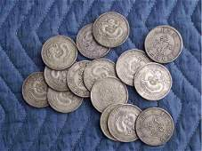 902: 15 Hu Peh Province Silver Coins 14 oz.