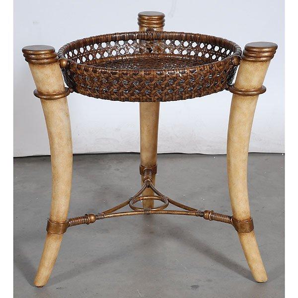 7: Designer TUSK Basketweave Table