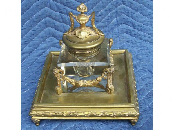 47: Fine French Bronze Large Inkwell