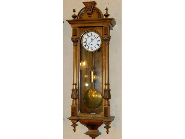 358: Fine Walnut Vienna Regulator Wall Clock