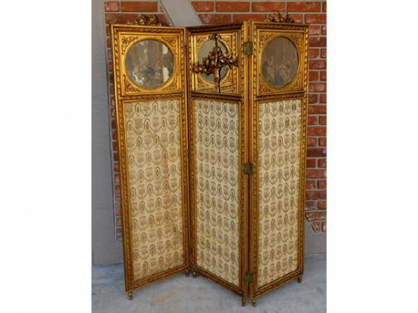 361: Fine French Giltwood Screen