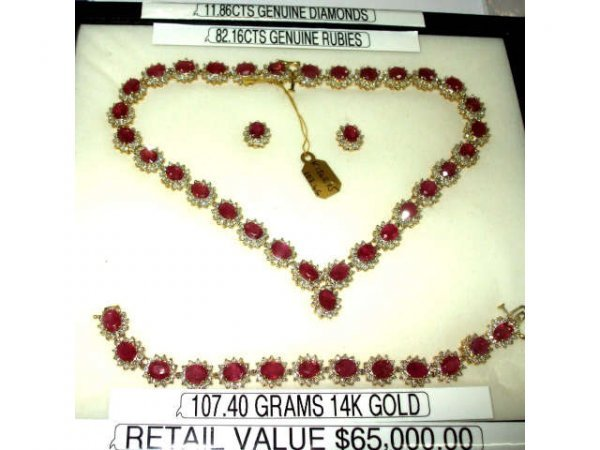616: Stunning Ruby & Diamond Ensemble