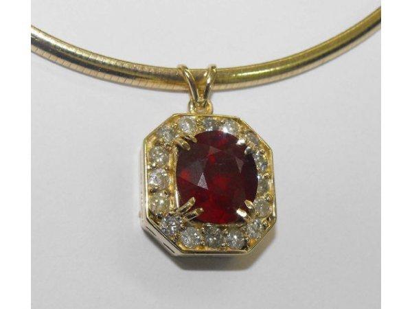8001: Ruby & Diamond Pendant Ap. $53,539