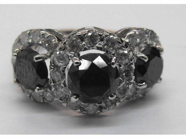 8002: Black & White Diamond Ring Ap. $18,925