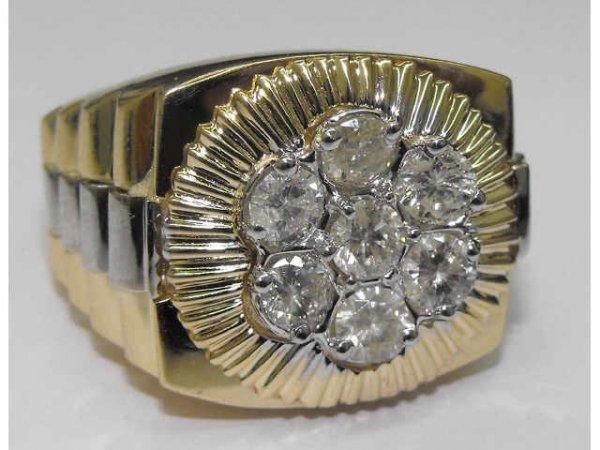 8005: Mans Rolex Style Diamond Ring Ap. $7992