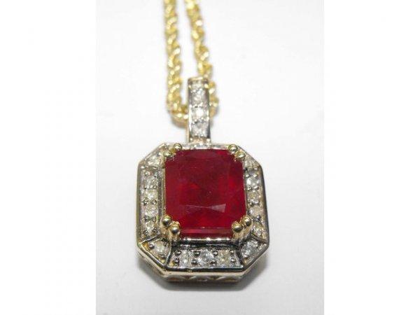 8011: Ruby & Diamond Drop Pendant Ap. $ 31,175
