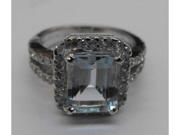 8014: Aqua Marine Fancy Ladies Ring  Ap. $ 13,693