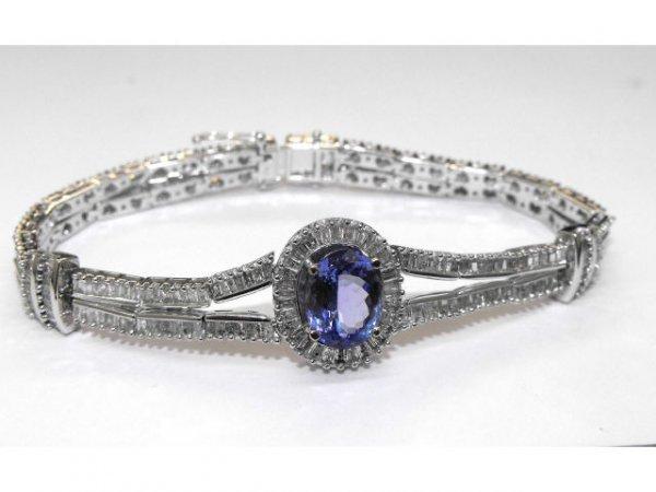8016: Fine Tanzanite & Diamond Bracelet Ap. $ 22,985
