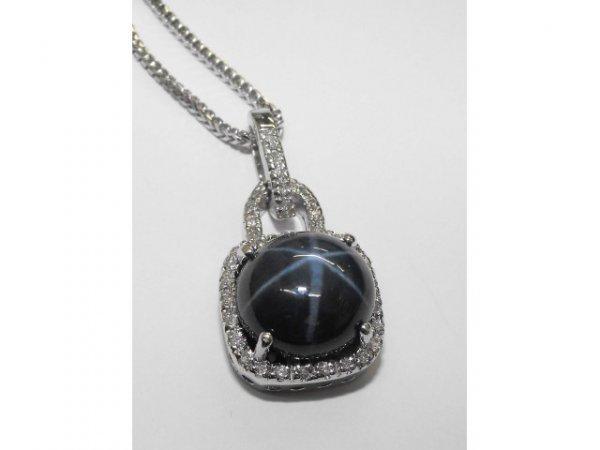 8017: Excellent STAR Sapphire Pendant Ap. $ 36,326
