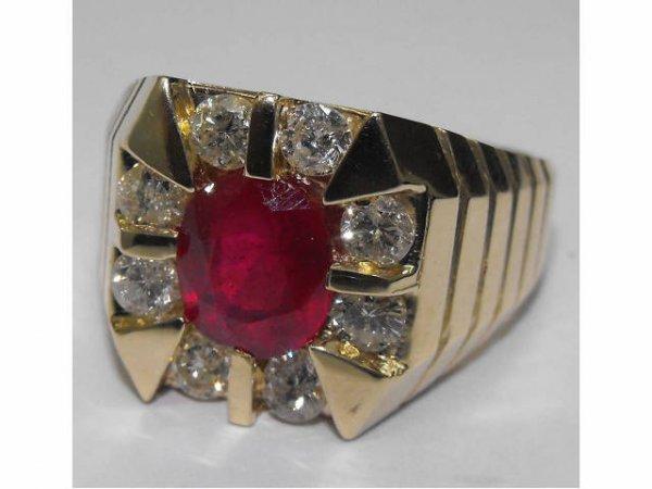 8019: Ruby & Diamond Fancy Ring Ap. $ 21,768