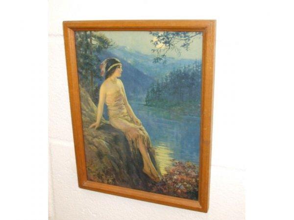 8208: Fine Vintage Hiawatha Oak Framed Print