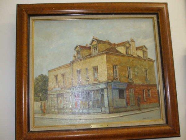 8216: Signed Jean Keime Street Scene O/B
