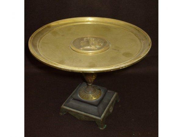 8223: Fine Brass Grecian Cameo Style Tazza