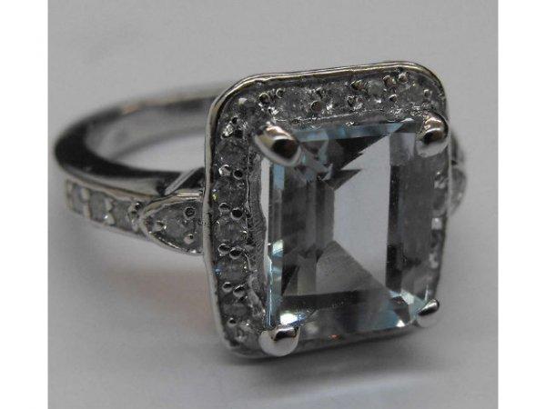1: Fine Aqua Marine & Dia. Ring Ap.$ 16,287