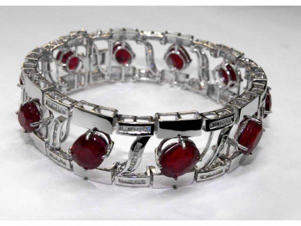 12: Stunning Ruby & Diamond Bracelet Ap. $ 97,355