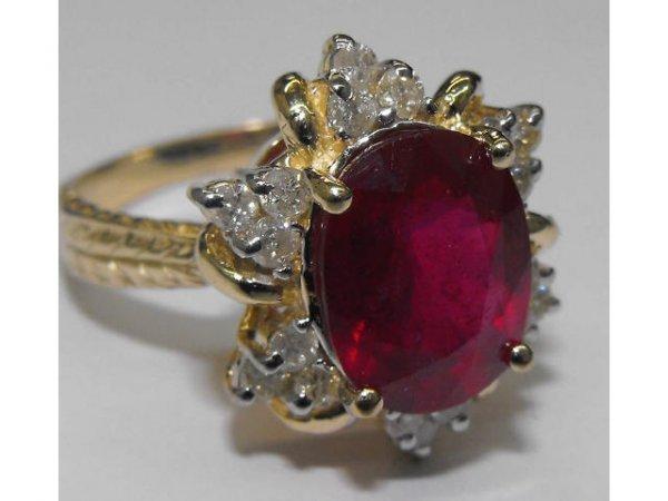 13: Fione Ruby & Diamond Fancy Ring Ap. $ 40,730