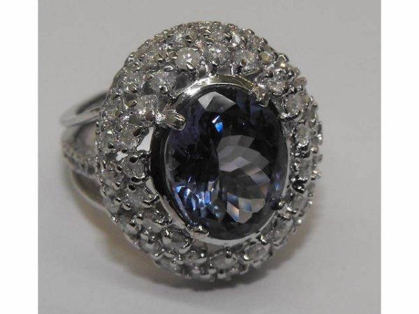 24: Large Single Stone Tanzanite Ring Ap. $ 23,605