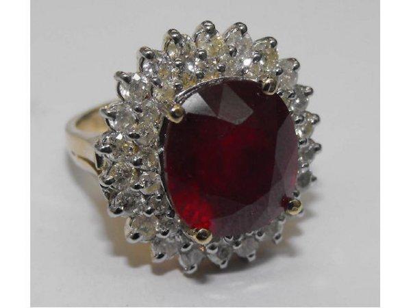 29: Fancy Ruby & Diamond Ring Ap. $ 48,454