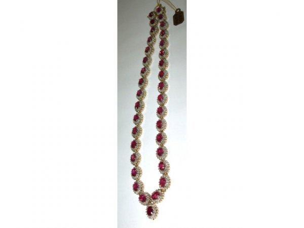 48: 41.61 ct Ruby & 7.00 ct Diamond Necklace