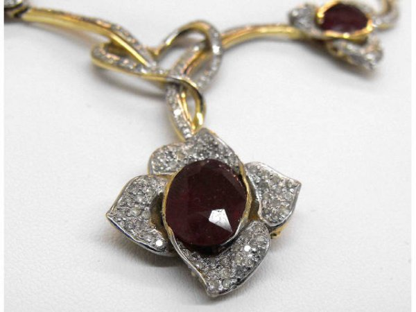 504: 18.71 ct. Ruby 3.17 ct. Diamond Necklace $ 33k