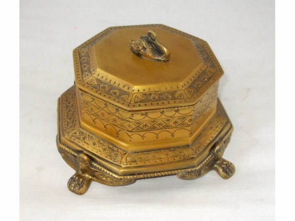 518: Fancy Brass Covered Box