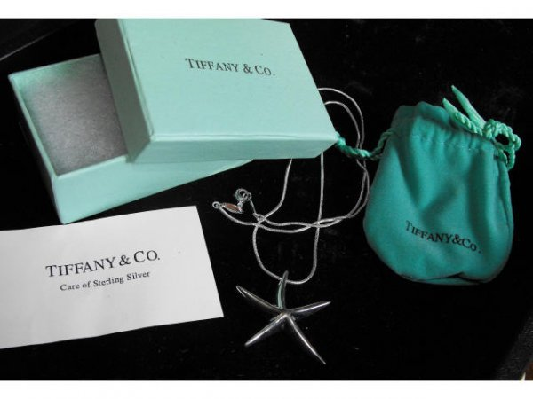 700A: Sterling Tiffany & Co.  Starfish Pendant & Chain