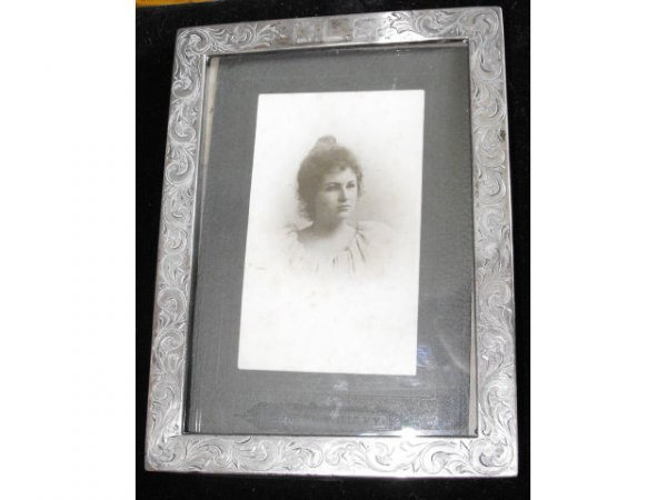 704: Sterling Silver Framed Victorian Photo
