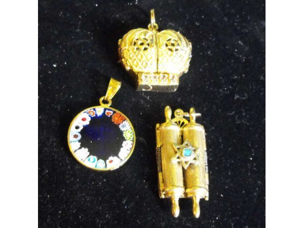 707: Lot of 3 Judaica 14k & Sterling Items