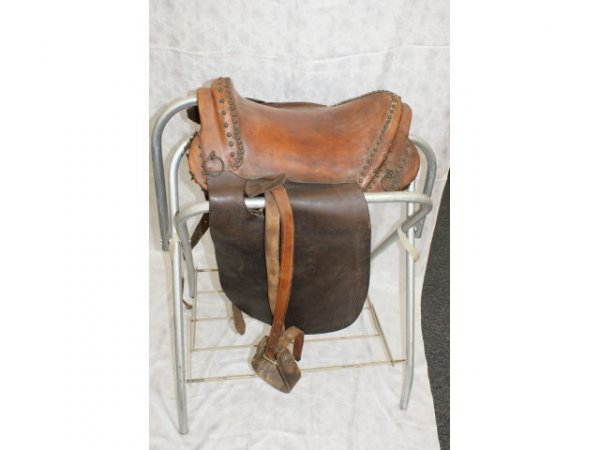 1514: Vintage Leather Mexican Saddle
