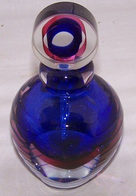 1: Blue Murano Glass Perfume