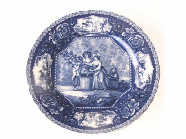 18: Blue Transferware Plate