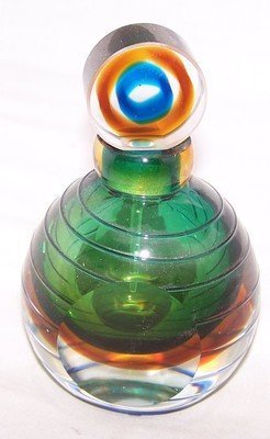 25: Green Murano Perfume Bottle