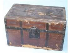 136: Vintage Wooden Trunk