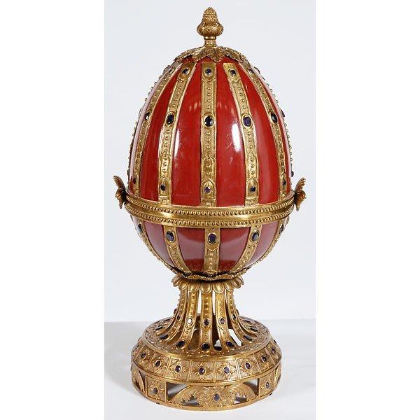 1006: Bronze Jeweled Faberge Egg