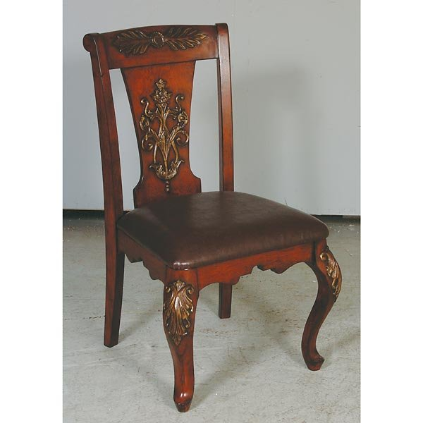 1014: Regency Leather & Iron Chair