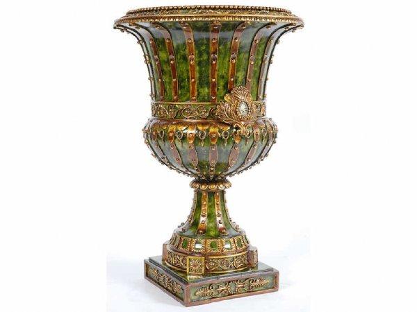 1020: Roman Guilded Verde Urn