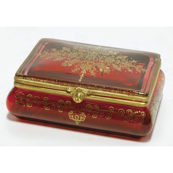 1116: Ruby Gilt & Bronze Box