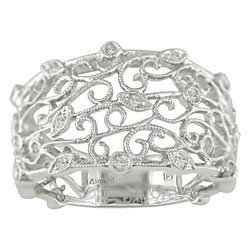 3027: 14-kt. White Gold Round Diamond Filigree Ring