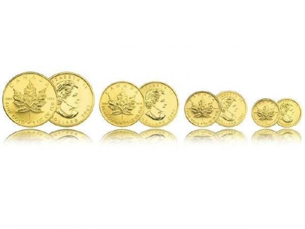 3051: Canadian 5 Dollar Gold Coin Maple Leaf