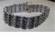2062: Fine $30k Sapphire & Diamond Bracelet