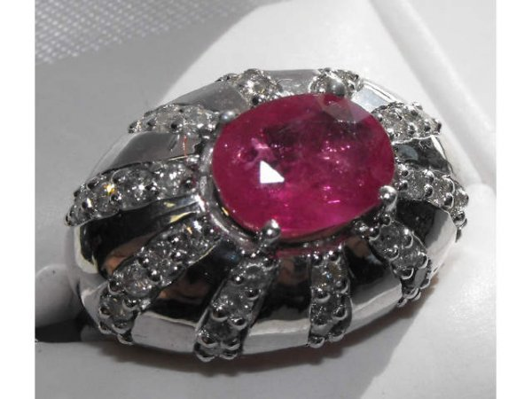 2073: $15k Ruby & Diamond Ring