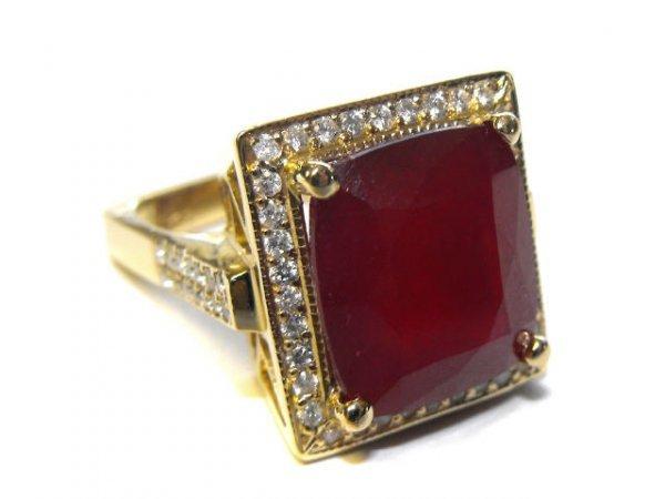 2080: Fancy Mount Ruby & Diamond Ring  $ 13.9k